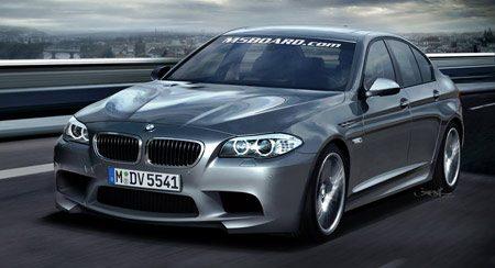 BMW F10 M5 rendering