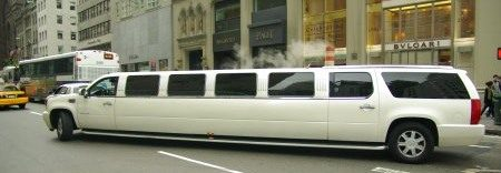 Escalade limo in NYC