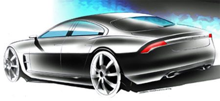 Jaguar 4-door coupe sketch