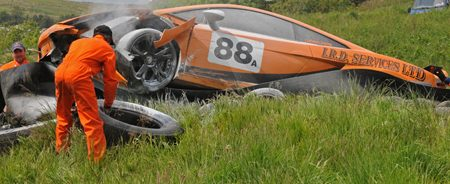 Lamborghini Gallardo Superleggera crash