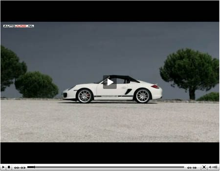 Porsche Boxster Spyder video