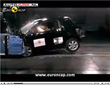 Toyota iQ crashtest video
