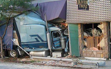 Truck in café