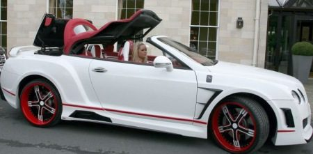 Bentley Continental GTC van Stephen Ireland
