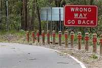 wrong way warning