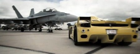Ferrari Enzo vs CF-18 Hornet