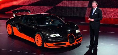 Paefgen met Bugatti Supersport