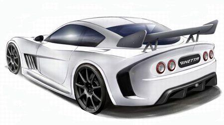 Ginetta G55 rear