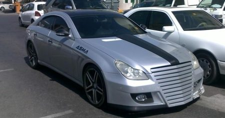 Mercedes CLS63 AMG door ASMA