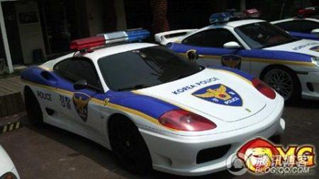 Politie Zuid-Korea supercars