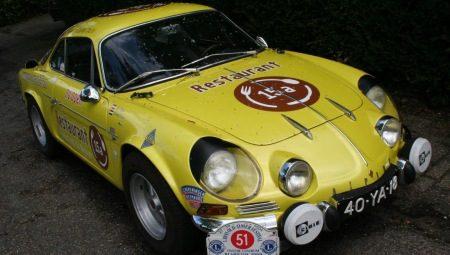 Alpine A110 rally-kanarie-geel