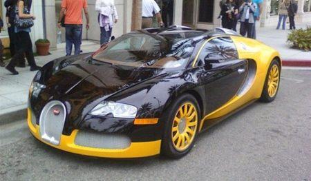 Bugatti Veyron zwart/geel