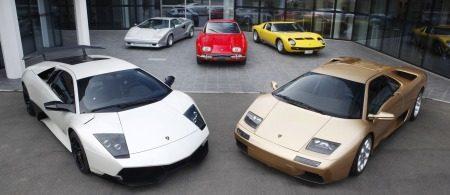Historische Lamborghini's (klik voor groot)