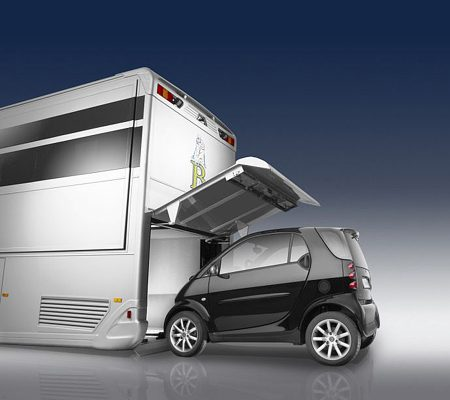 Mercedes Camper A-Cero garage Smart