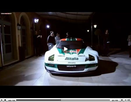 De New Stratos in rally-outfit