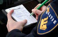 Politie schrijft bon uit