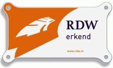 RDW-bordje op de muur, steekproefcontroleur in je schuur