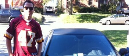 Tiësto, zijn Redskins-shirt en een auto