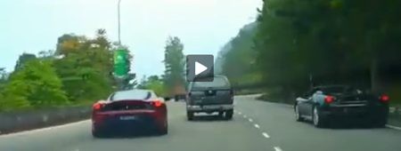 Video Ferrari straatrace