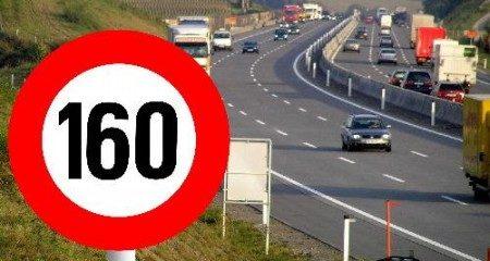 160 op de snelweg