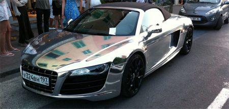 Audi R8 V10 Spyder in chrrrrrrroom!