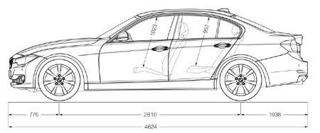 tekening auto bmw