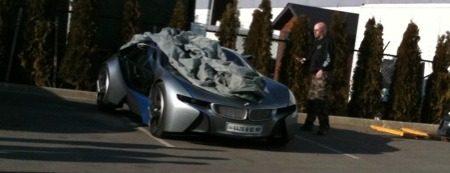 BMW Vision/i8 concept op filmset