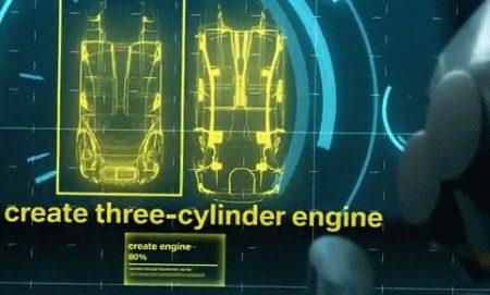 BMW driecilinder motor