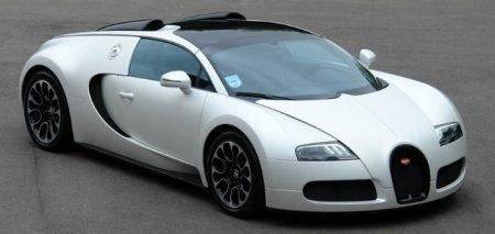 Ultiem witte Bugatti Veyron Grand Sport