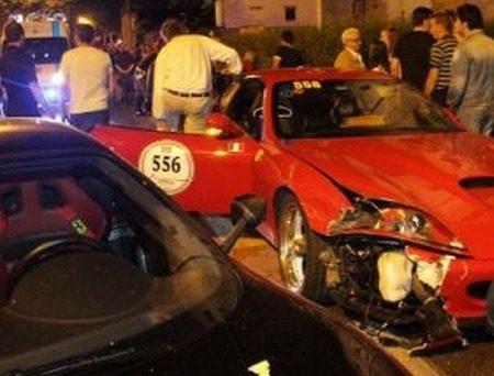 Ferrari crash Mille Miglia 2011