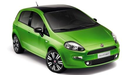 Fiat Punto TwinAir is groen