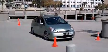 Google self-driving Prius