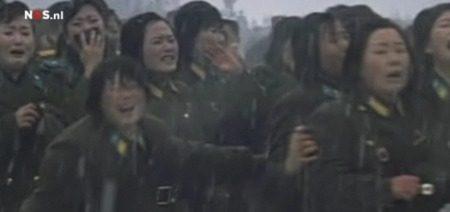 Koreaanse meisjes doen boehoe