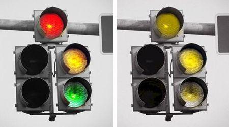 Kleurenblind stoplicht