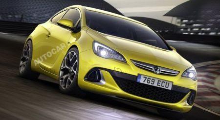 Opel Astra OPC rendering