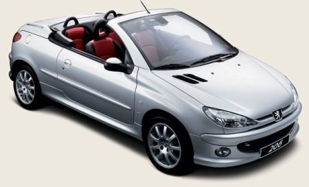 peugeot 206 cc lichtvoetige cabrio. Black Bedroom Furniture Sets. Home Design Ideas