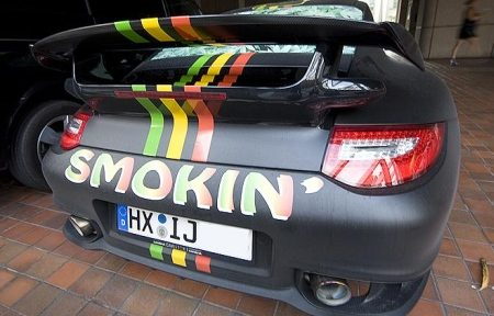 Porsche GT2 Smoking