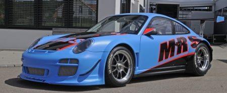 Smurfen rijden Porsche