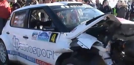 Robert Kubica crash @ Rally Andorra