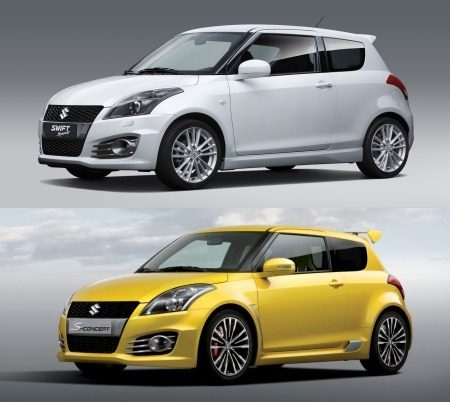 Swift Sport vs Concept