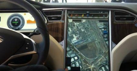 tesla model s dashboard beeldscherm video   autoblog nl