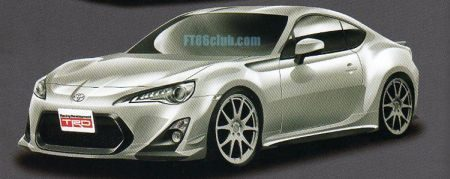 Toyota FT-86 getuned door TRD
