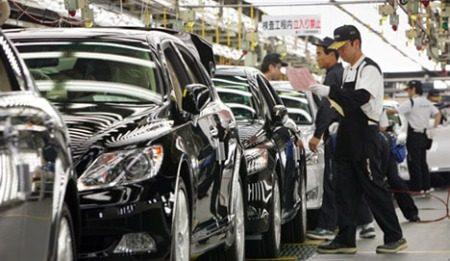 Toyota Assemblagelijn in Japan