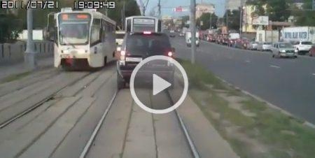 Vandaag met de auto of de tram?