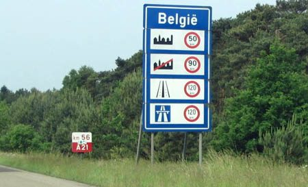 Grensovergang België