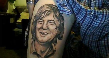 James May tattoo