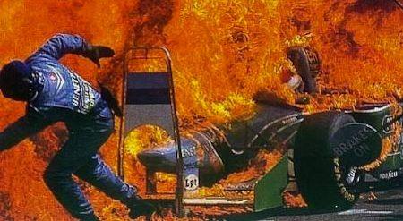 Pitstop goes wrong - Jos Verstappen, GP van Duitsland 1994