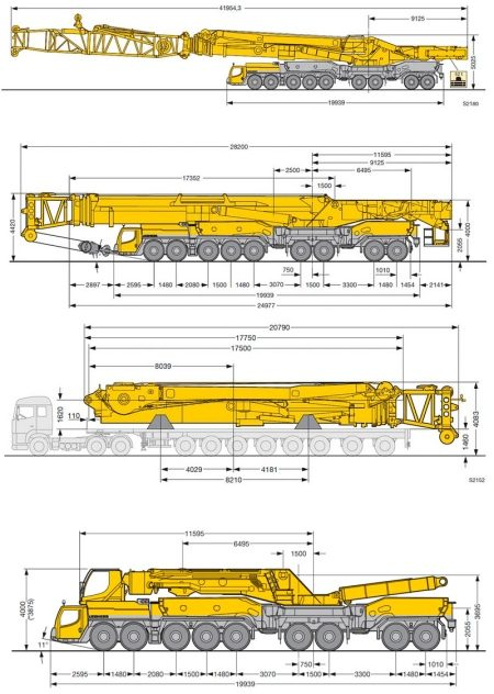 Opbouw van de Liebherr LTM 11200-9.1