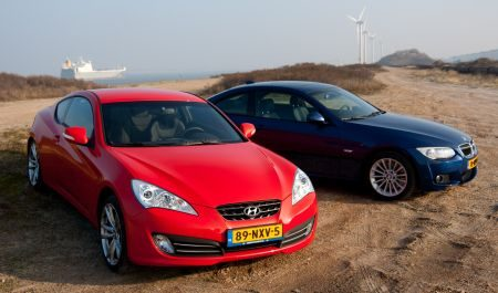 Hyundai Genesis Coupe 3.8 vs. BMW 325i