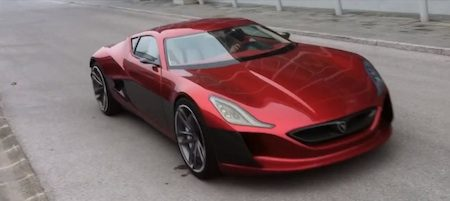Rimac Concept One in beweging
